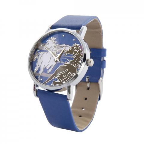 Zegarek HKM Horse z niebieską bransoletką