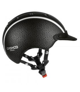 Kask Casco Choice czarny z główkami koni