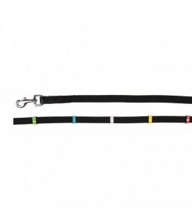 Wodze parciane HKM Colour ze stoperami czarne