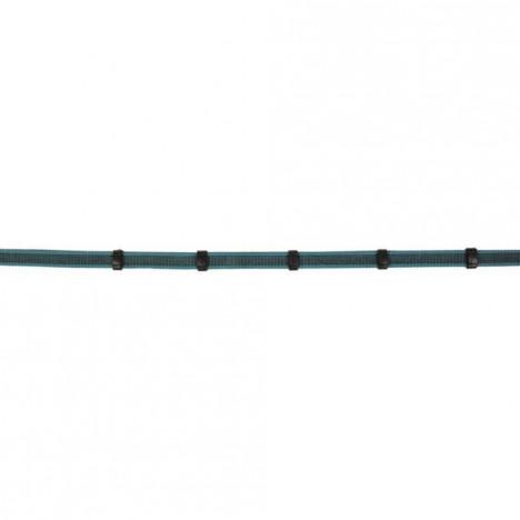 Wodze gumowe HKM Colour czarno-turkusowe