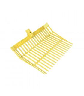 Widły HKM z uchwytem aluminiowym żółte