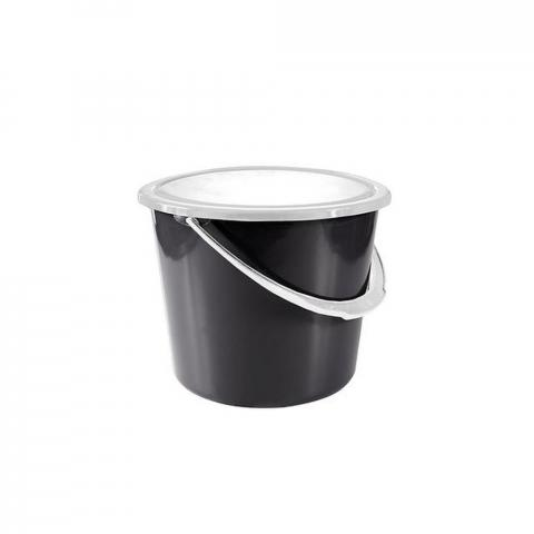 Wiadro Horze z pokrywką czarne