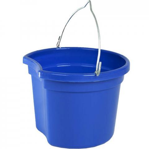 Wiadro Horze z wklęsłym bokiem niebieskie