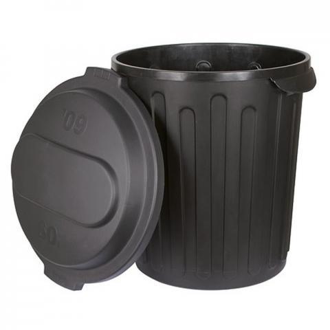 Pojemnik z pokrywką na paszę Kerbl czarny