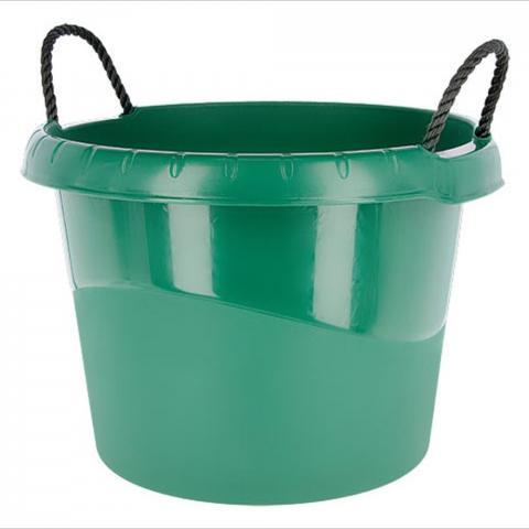 Pojemnik na paszę z uchwytami Kerbl zielony