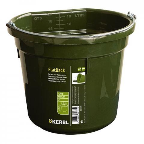 Wiadro platikowe z uchwytem Kerbl FlatBack zielone