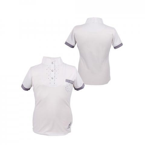 Bluzka konkursowa QHP Pearl młodzieżowa biała