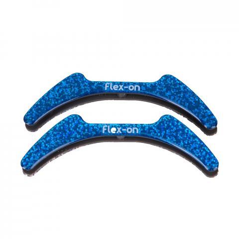 Wkładki magnetyczne do strzemion dorosłych Flex-on brokatowe niebieskie