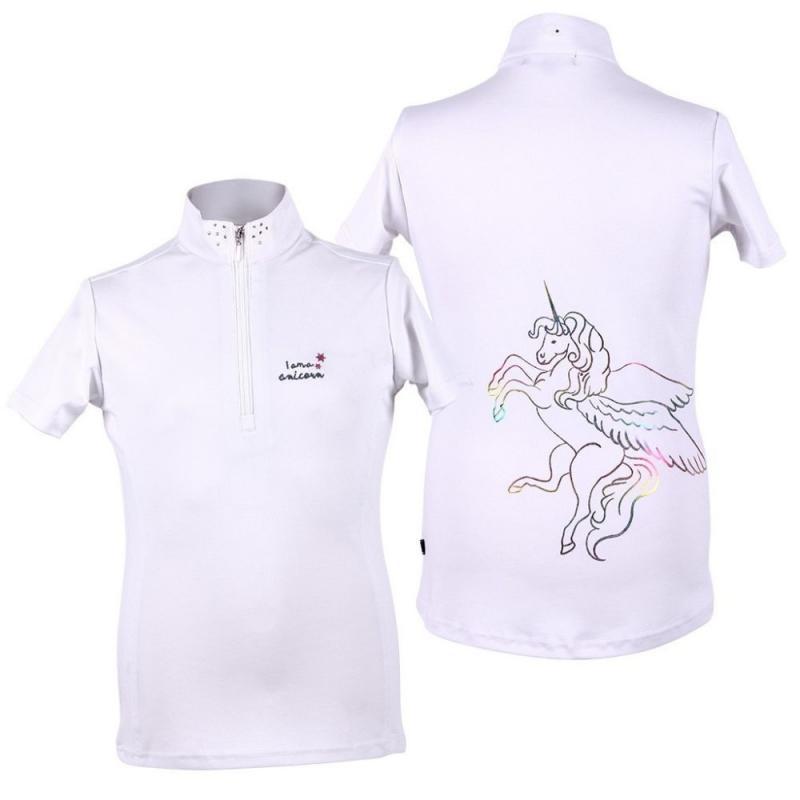Bluzka konkursowa QHP Milou młodzieżowa biała