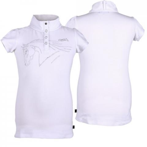 Bluzka konkursowa QHP Nola młodzieżowa biała