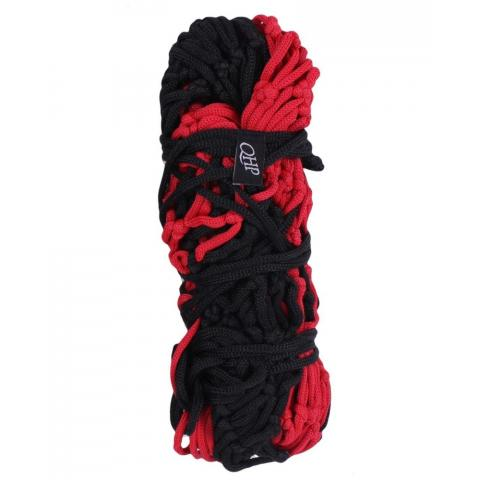 Siatka na siano QHP Paisley średnie oczka 4cm czarno-czerwona