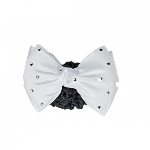 Klamra do włosów Busse Crystal II biało-czarna