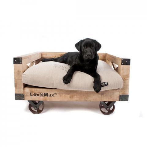 Sofa na kółkach dla psa firmy Lex&Max brązowy