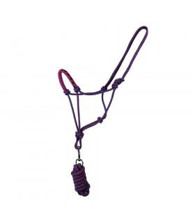 Kantar sznurkowy z uwiązem QHP fioletowy