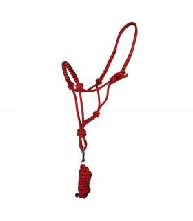 Kantar sznurkowy z uwiązem QHP czerwony