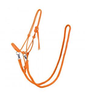 Kantar sznurkowy z wodzami QHP pomarańczowy