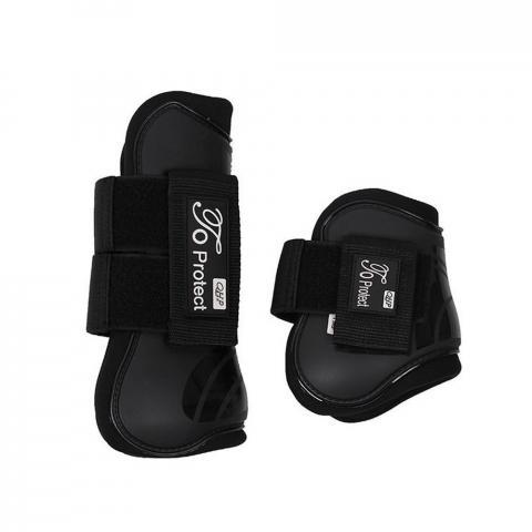 Ochraniacze skokowe QHP Luxury black, czarne komplet 4szt.