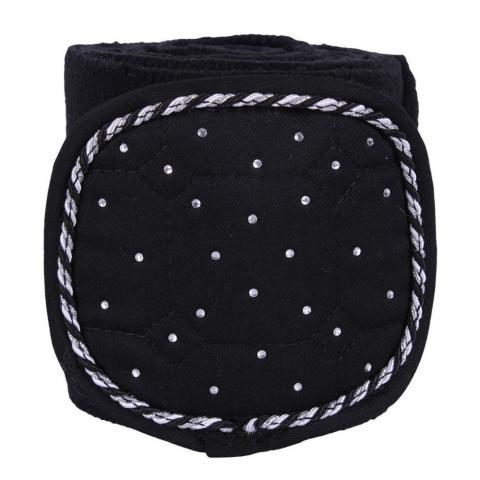 Bandaże polarowe QHP Sparkle Black, czarne