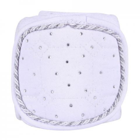 Bandaże polarowe QHP Sparkle White, białe