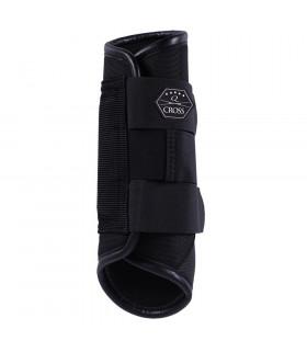 Ochraniacze crossowe QHP kevlarowe przód Black, czarne