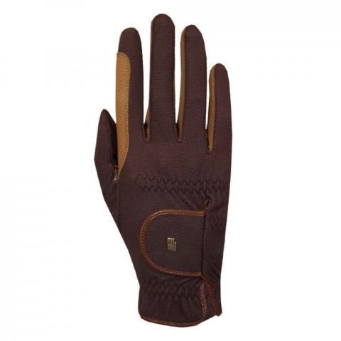Rękawiczki Roeckl Malta brązowo-karmelowe