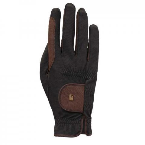 Rękawiczki Roeckl Malta czarno-brązowe