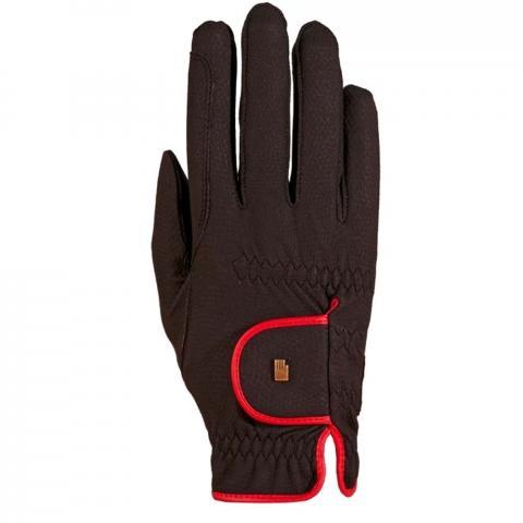 Rękawiczki Roeckl Lona czarno-czerwone