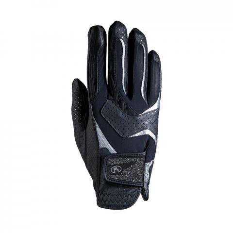 Rękawiczki Roeckl Lara czarno-srebrne