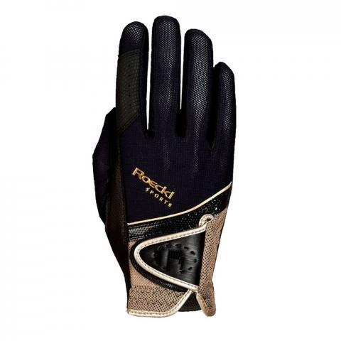 Rękawiczki Roeckl Madrid czarno-złote
