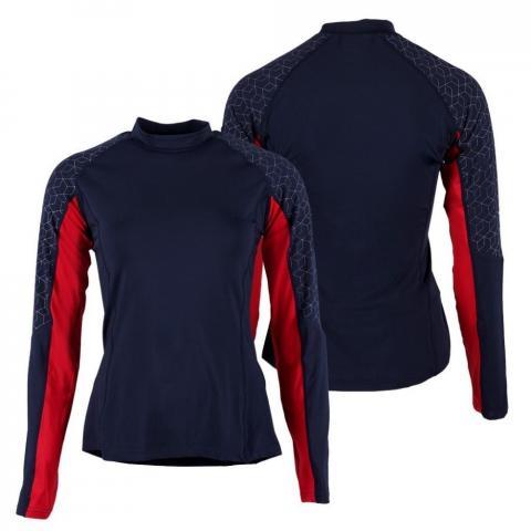 Bluzka techniczna dla zawodników WKKW QHP Eldorado granatowo-czerwona