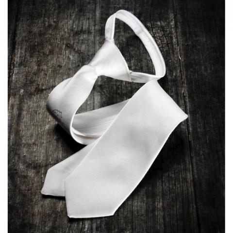 Krawat Equiline New Quick Tie biały