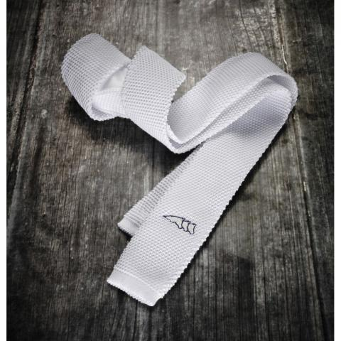 Krawat Equiline New Slim Tie biały