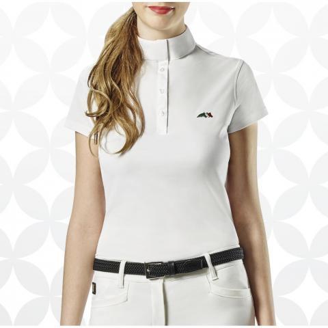 Bluzka konkursowa damska Equiline Isabel biała