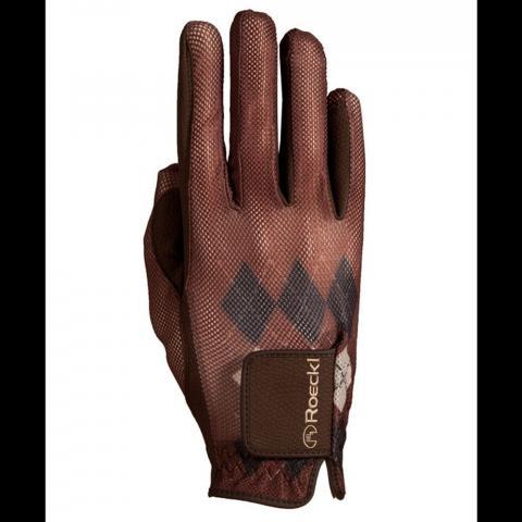 Rękawiczki Roeckl caro brązowe