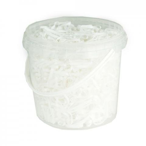 Gumki silikonowe do grzywy Horze białe